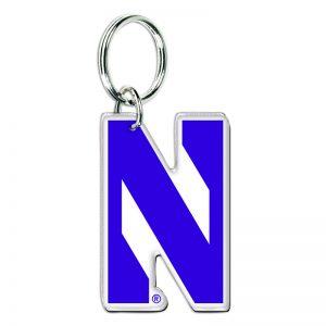 Northwestern Wildcats Premium Acrylic Key Ring with Stylized N Design