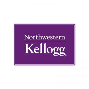 "Northwestern Wildcats Purple Rectangle Magnet, 2"" x 3"" Kellogg Design"