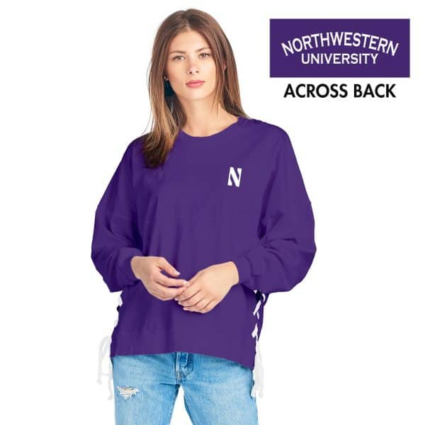 Northwestern Wildcats Purple Side Laced Spirit Jersey with Stylized N Design