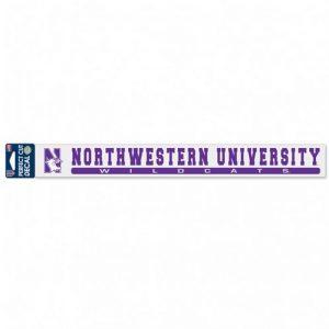 "Northwestern Wildcats Perfect Cut Long Decals 2"" x 17"" with N-cat & Northwestern Wildcats Design"