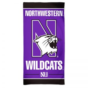 "Northwestern Wildcats Full Color Spectra Beach Towel 30"" x 60"""