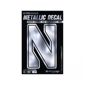 "Northwestern Wildcats Metallic Window Decals 3"" x 5"" with Stylized N Design"