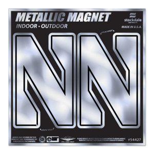"""Northwestern Wildcats Indoor/Outdoor Flexible Metallic Magnets Set of Two Stylized N Design 2.5""""X4"""""""