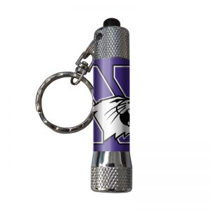 Northwestern Wildcats Keychain Flashlight with N-cat Design