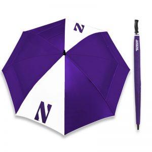 "Northwestern Wildcats 62"" WindSheer® Lite Hybrid Umbrella with N Design"