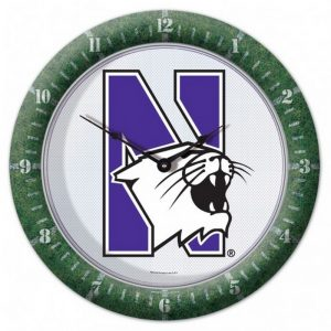 Northwestern Wildcats Full Color Game Clock with N-Cat Design