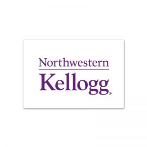"Northwestern Wildcats White Rectangle Magnet, 2"" x 3"" Kellogg Design"