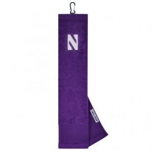 Northwestern Wildcats Face/Club® Embroidered Towel with Stylized N Logo