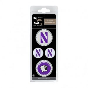 Northwestern Wildcats Ball Marker Set of four Variety Pack