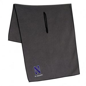 "Northwestern Wildcats Grey Microfiber Towel with Stylized N Design 19"" x 41"""