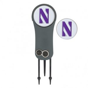 Northwestern Wildcats Switchblade Repair Tool & Markers with Stylized N Design