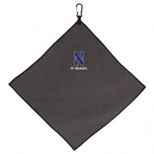 "Northwestern Wildcats Grey Microfiber Towel with Stylized N Design 15"" x 15"""