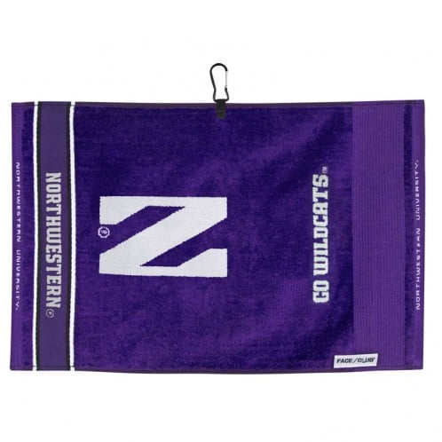 Northwestern Wildcats Face/Club® Jacquard Towel wit Stylized N Design