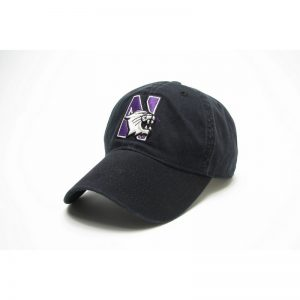Northwestern Wildcats Legacy Unconstructed Adjustable Black Hat with N-Cat Design