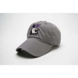 Northwestern Wildcats Legacy Unconstructed Adjustable Light Grey Hat with N-Cat Design
