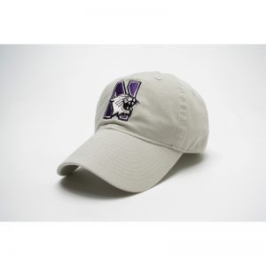 Northwestern Wildcats Legacy Unconstructed Adjustable Almond Cream Hat with N-Cat Design