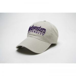 Northwestern Wildcats Legacy Unconstructed Adjustable Almond Cream Hat with Straight Northwestern University Design
