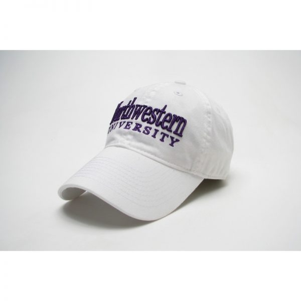 Northwestern Wildcats Legacy Unconstructed Adjustable White Hat with Straight Northwestern University Design