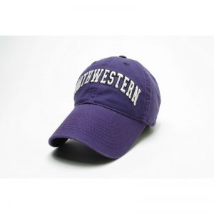 Northwestern Wildcats Legacy Unconstructed Adjustable Purple Hat with Arched Northwestern Design