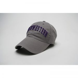 Northwestern Wildcats Legacy Unconstructed Adjustable Light Grey Hat with Arched Northwestern Design