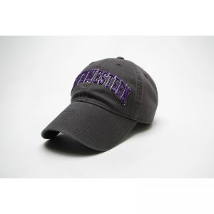 Northwestern Wildcats Legacy Unconstructed Adjustable Charcoal Grey Hat with Arched Northwestern Design