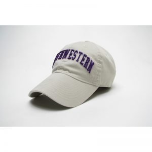 Northwestern Wildcats Legacy Unconstructed Adjustable Almond Cream Hat with Arched Northwestern Design