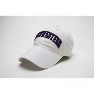 Northwestern Wildcats Legacy Unconstructed Adjustable White Hat with Arched Northwestern Design