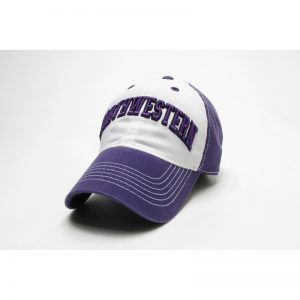 Northwestern Wildcats Legacy Unconstructed Adjustable Purple/White Freshman Hat with Arched Northwestern Design