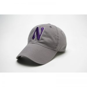 Northwestern Wildcats Legacy Unconstructed Adjustable Light Grey Hat with Stylized N Design