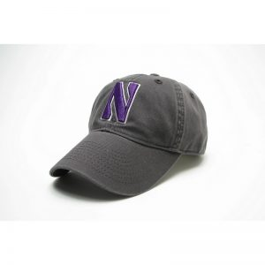 Northwestern Wildcats Legacy Unconstructed Adjustable Charcoal Grey Hat with Stylized N Design