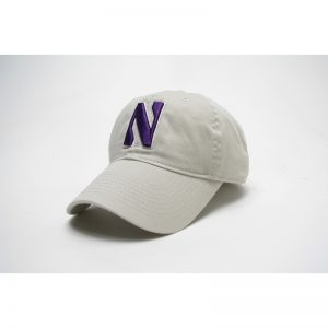 Northwestern Wildcats Legacy Unconstructed Adjustable Almond Cream Hat with Stylized N Design