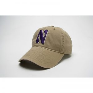 Northwestern Wildcats Legacy Unconstructed Adjustable Golden Khaki Hat with Stylized N Design