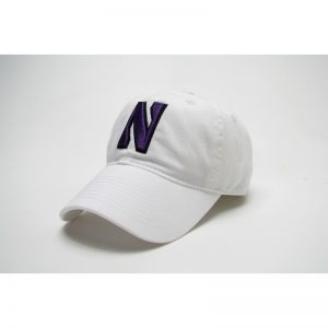 Northwestern Wildcats Legacy Unconstructed Adjustable White Hat with Stylized N Design