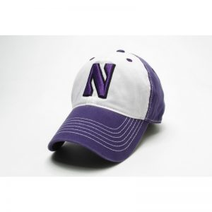 Northwestern Wildcats Legacy Unconstructed Adjustable Purple/White Freshman Hat with Stylized N Design