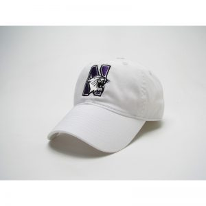 Northwestern Wildcats Legacy Unconstructed Adjustable White Hat with N-Cat Design