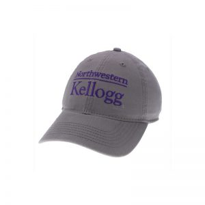 Northwestern Wildcats Legacy Unconstructed Adjustable Dark Grey Hat with Kellogg Design