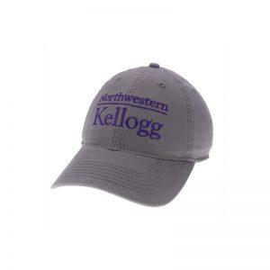 Northwestern Wildcats Legacy Unconstructed Adjustable Dark Grey Hat with Kellogg Design