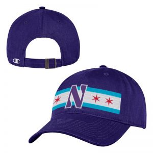 Northwestern Wildcats Legacy Unconstructed Adjustable Purple Hat with Chicago Flag & Stylized N Design