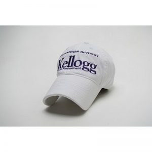 Northwestern Wildcats Legacy Unconstructed Adjustable White Hat with Purple Kellogg School of Management Design