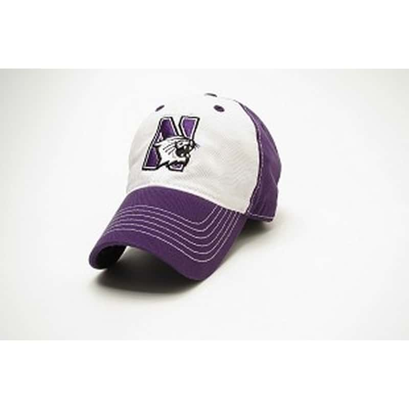 81a545f35 Northwestern University Wildcats Legacy Unconstructed Fitted Purple/White  Freshman Hat with N-Cat Design