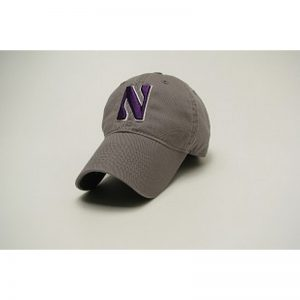 Northwestern Wildcats Legacy Unconstructed Adjustable Dark Grey Hat with Stylized N Design
