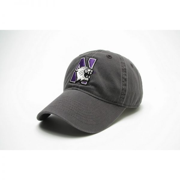 Northwestern Wildcats Legacy Unconstructed Fitted Charcoal Grey Hat with N-cat Design