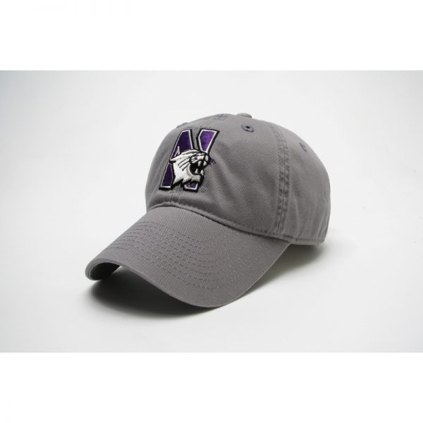 Northwestern Wildcats Legacy Unconstructed Fitted Light Grey Hat with N-Cat Design