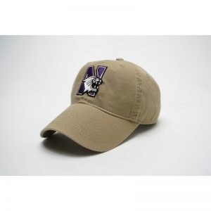 Northwestern Wildcats Legacy Unconstructed Fitted Golden Khaki Hat with N-Cat Design