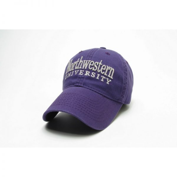 Northwestern Wildcats Legacy Unconstructed Fitted Purple Hat with Straight Northwestern University Design