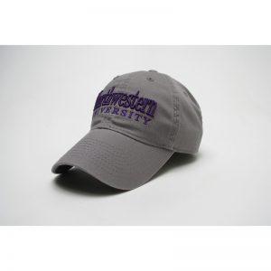 Northwestern Wildcats Legacy Unconstructed Fitted Dark Grey Hat with Straight Northwestern University Design