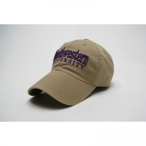 Northwestern Wildcats Legacy Unconstructed Fitted Golden Khaki Hat with Straight Northwestern University Design