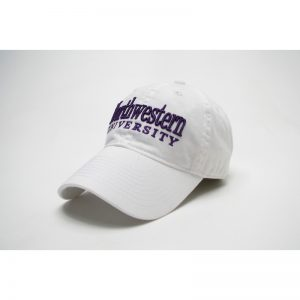 Northwestern Wildcats Legacy Unconstructed Fitted White Hat with Straight Northwestern University Design