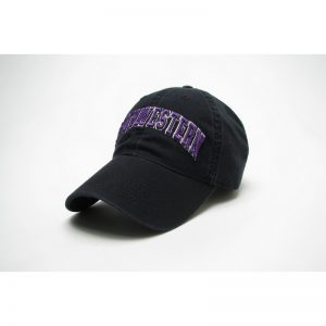 Northwestern Wildcats Legacy Unconstructed Fitted Black Hat with Arched Northwestern Design
