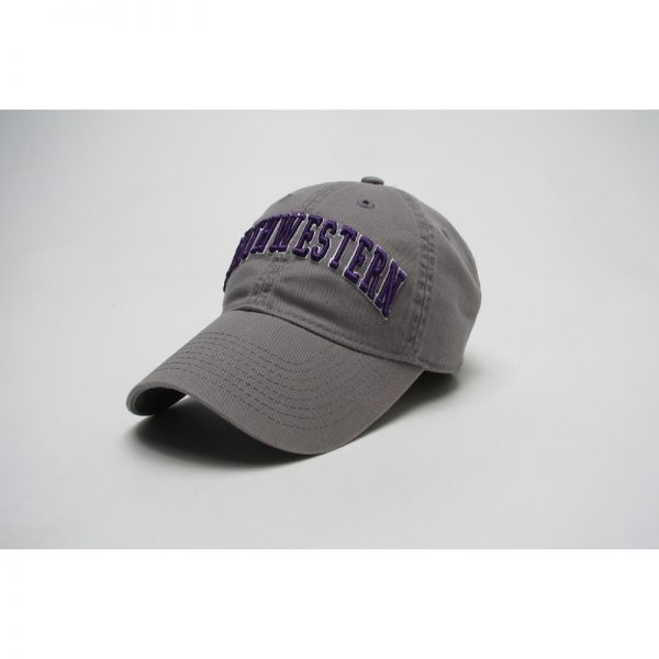 Northwestern Wildcats Legacy Unconstructed Fitted Light Grey Hat with Arched Northwestern Design